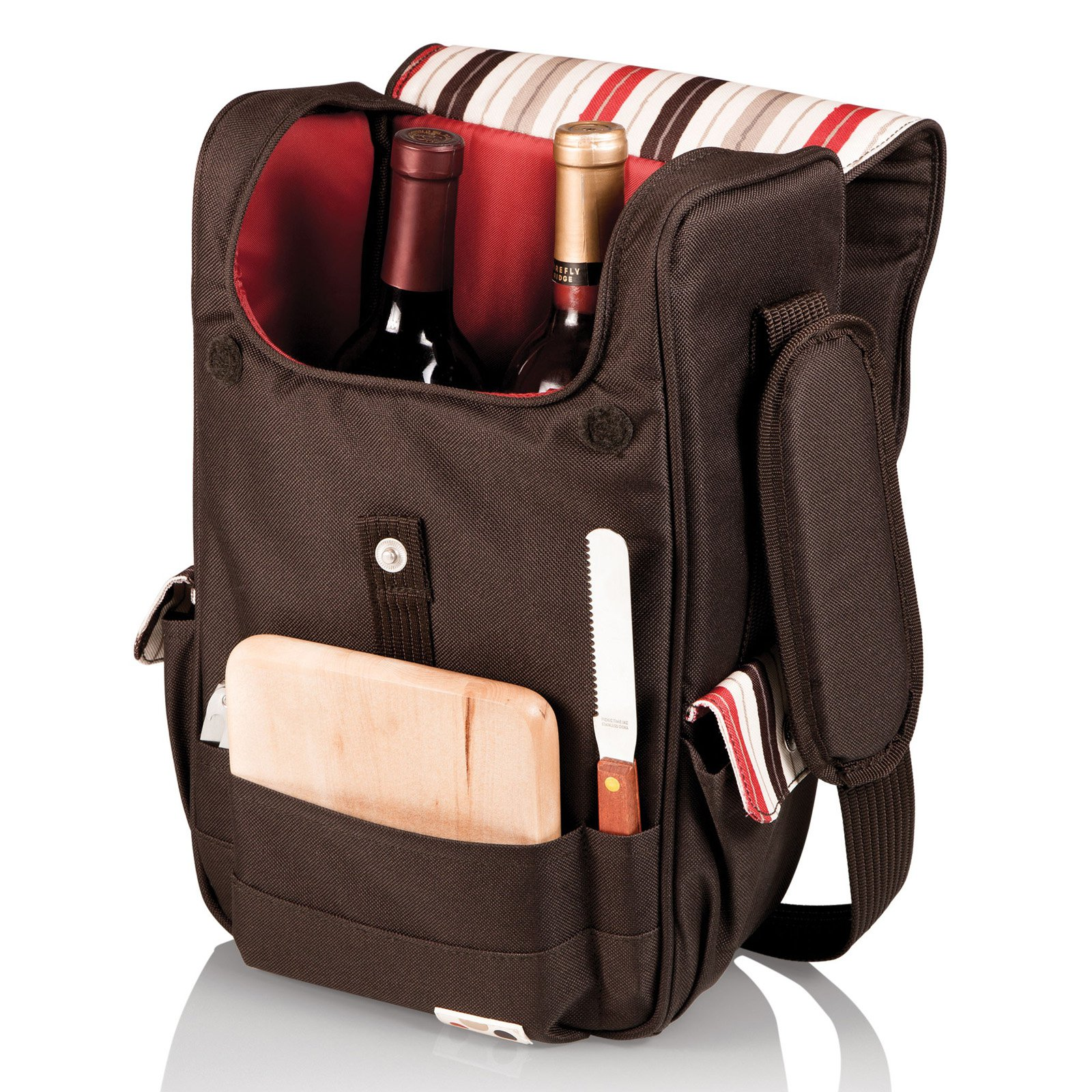 Picnic Time Volare Moka Picnic Wine And Cheese Tote