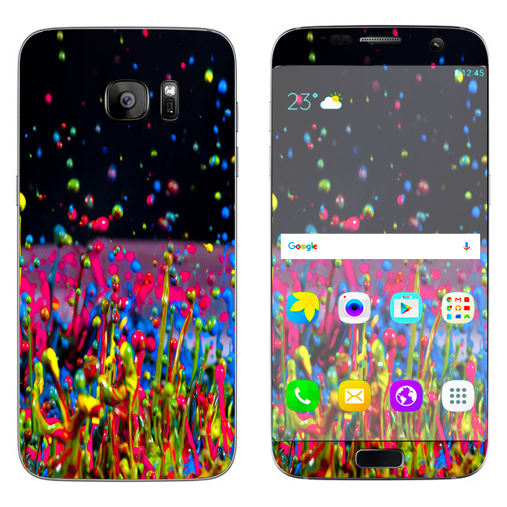 Skins Decals For Samsung Galaxy S7 Edge / Splash Colorful Paint