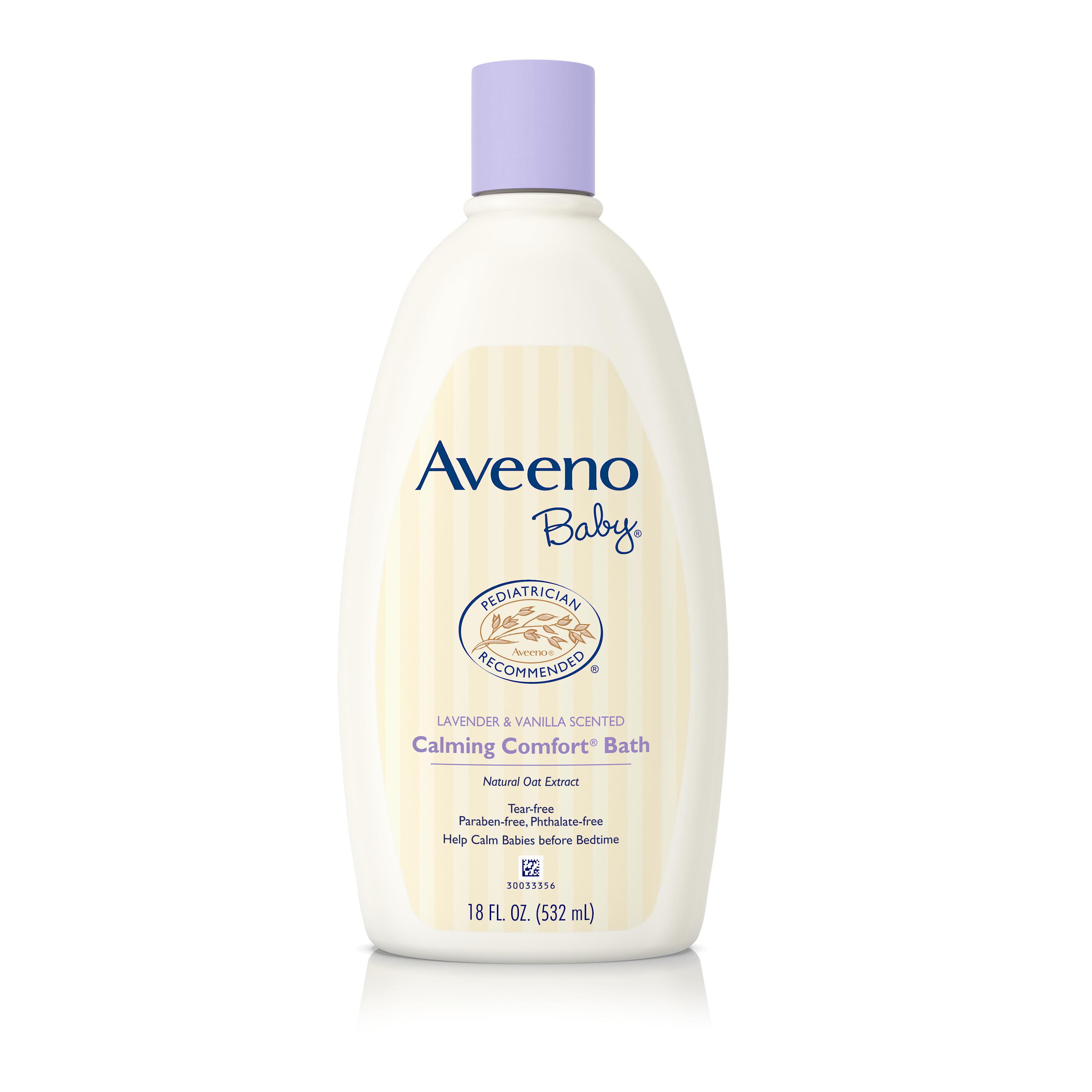 Aveeno Baby Calming Comfort Bath Wash, Tear Free, Lavender & Vanilla, 18 Fl. Oz. - Walmart.com
