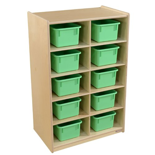 Wood Designs 10 Compartment Cubby with Trays