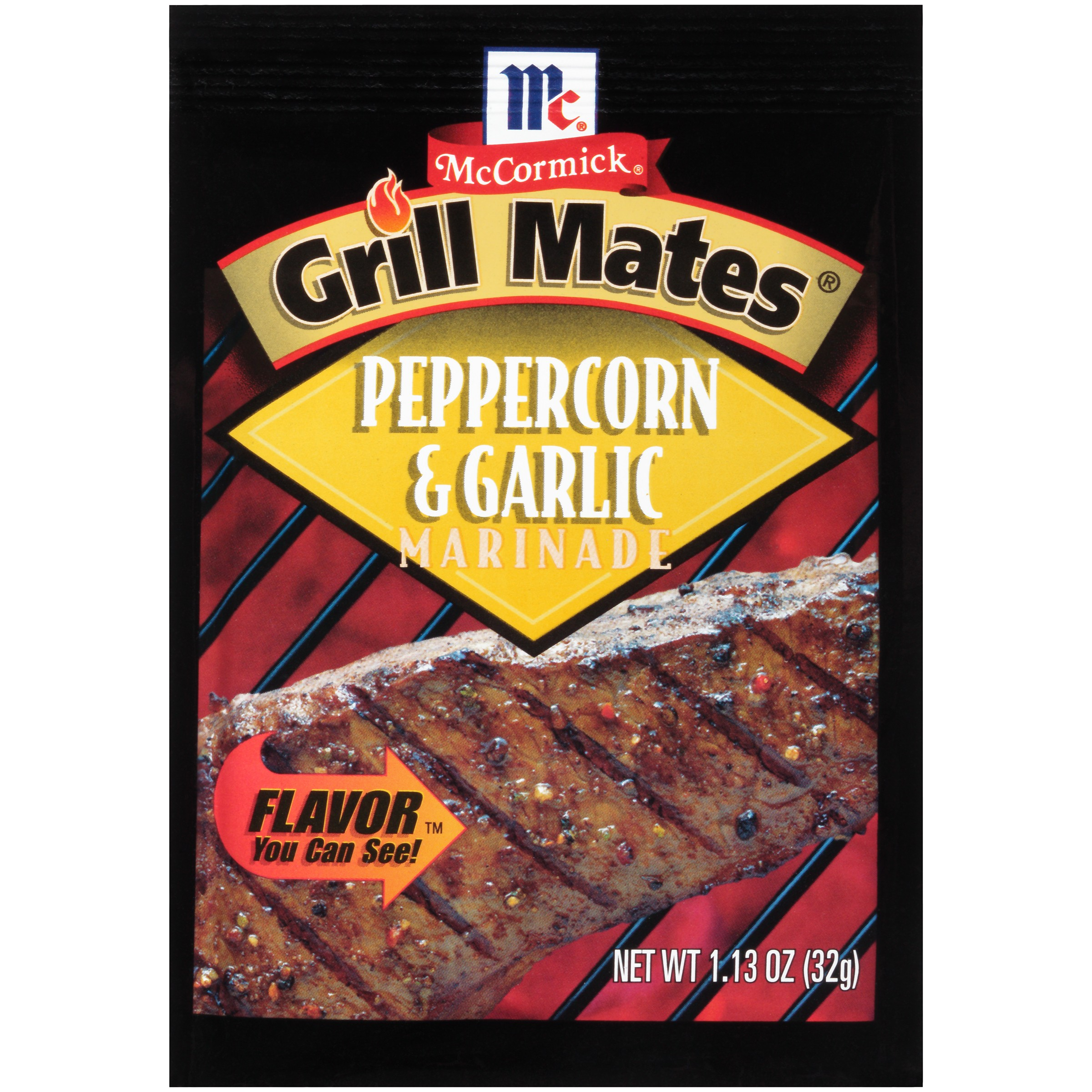 McCormick Grill Mates Peppercorn & Garlic Marinade Seasoning, 1.13 oz