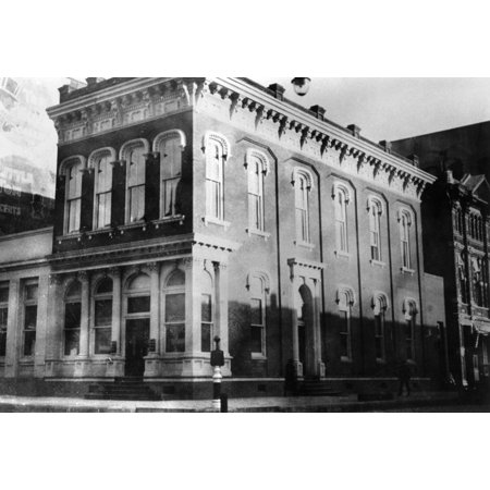 Galveston Bank C1910 Nthe First National Bank Building At The Corner Of 22Nd Street And The Strand In Galveston Texas Photograph C1910 Rolled Canvas Art     18 X 24