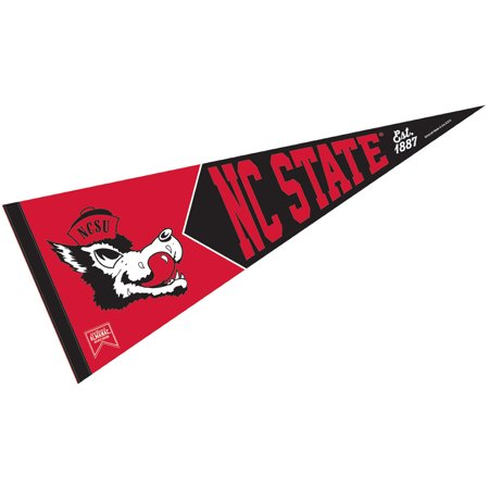 - NC State Wolfpack Retro Vintage and Throwback Pennant