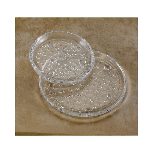 Biedermann and Sons Raindrop Glass Pillar Plate (Set of 2)