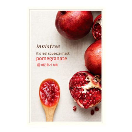 (6 Pack) INNISFREE It's Real Squeeze Mask Pomegranate