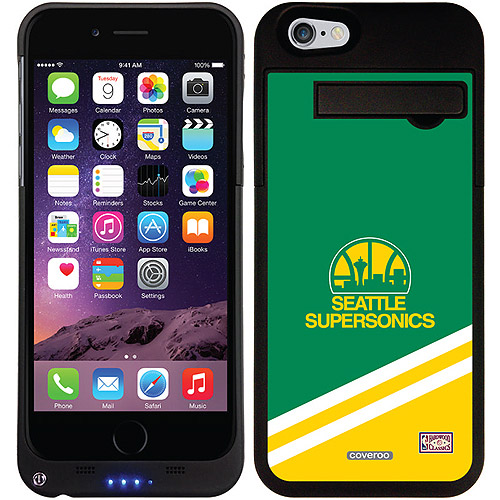 Seattle Supersonics Hardwood Classic Design on Apple iPhone 6 Battery Case by Coveroo - Walmart.com