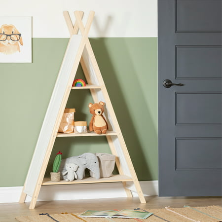 South Shore Sweedi Natural Cotton and Pine Teepee Shelving Unit ()
