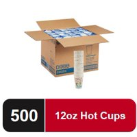 Dixie PerfecTouch 12 oz. Insulated Paper Hot Coffee Cup, 5342DX, 500 Count (25 Cups Per Sleeve, 20 Sleeves Per Case)