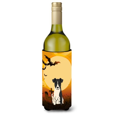 Halloween Smooth Fox Terrier Wine Bottle Beverge Insulator Hugger