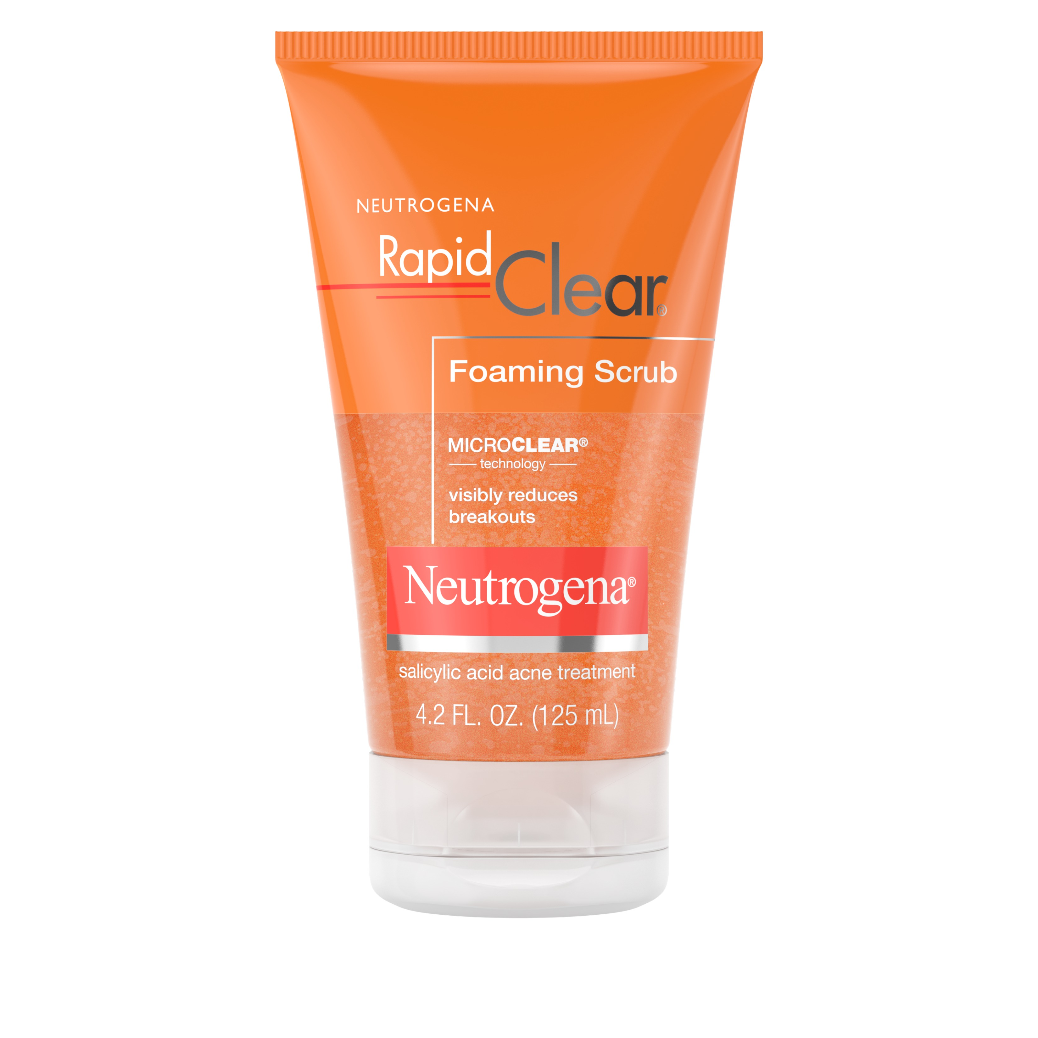 Neutrogena Rapid Clear Foaming Salicylic Acid Facial Scrub, 4.2 fl. oz