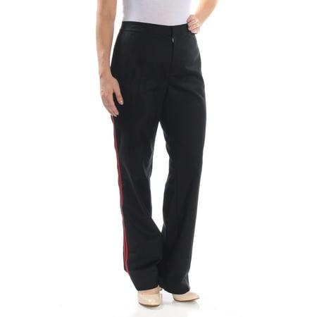 RALPH LAUREN Womens Black Zippered Hidden Closure Striped Wear To Work Pants  Size: