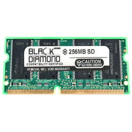256MB Memory RAM for Dell Inspiron 2500 P850, 2500 P900, 3700 C433GT, 3700 C466GT, 3700 R450GT 144pin PC100 100MHz SDRAM SO-DIMM Black Diamond Memory Module Upgrade 144 Pin Pc100 Sdram Sodimm