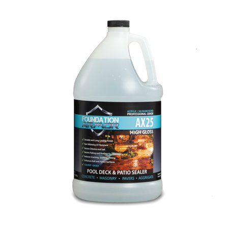 1 Gallon Armor AX25 Water Repellent Infused High Gloss Sealer and Cure and Seal for Concrete and
