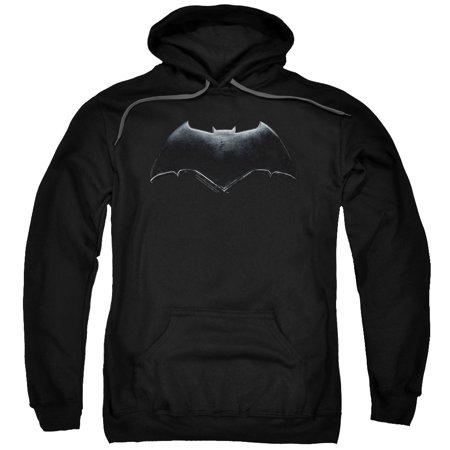 Logo Mens Hoodie Sweatshirt - Justice League Movie Batman Logo Mens Pullover Hoodie