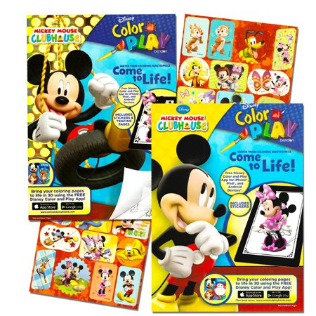 Clubhouse Coloring Book Set (2 Books - and Minnie Mouse), Delight your Mickey Mouse Clubhouse fan with this Mickey Mouse Clubhouse coloring book set! By Mickey Mouse - Minnie And Mickey Mouse Halloween Coloring Pages