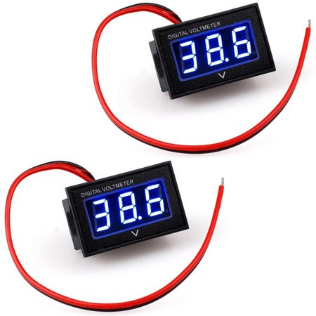 voltmeter wiring diagram eeekit golf cart digital volt meter, 2-pack led  digital 36 volt golf on