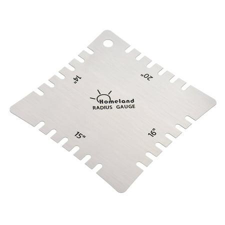 4pcs Stainless Steel Guitar Notched Radius Gauge Fingerboard Fretboard Measuring Tool Set - image 1 de 7