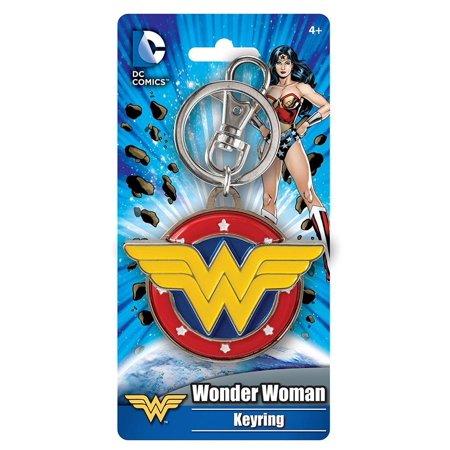 Wonder Woman Logo Colored Pewter Key Ring