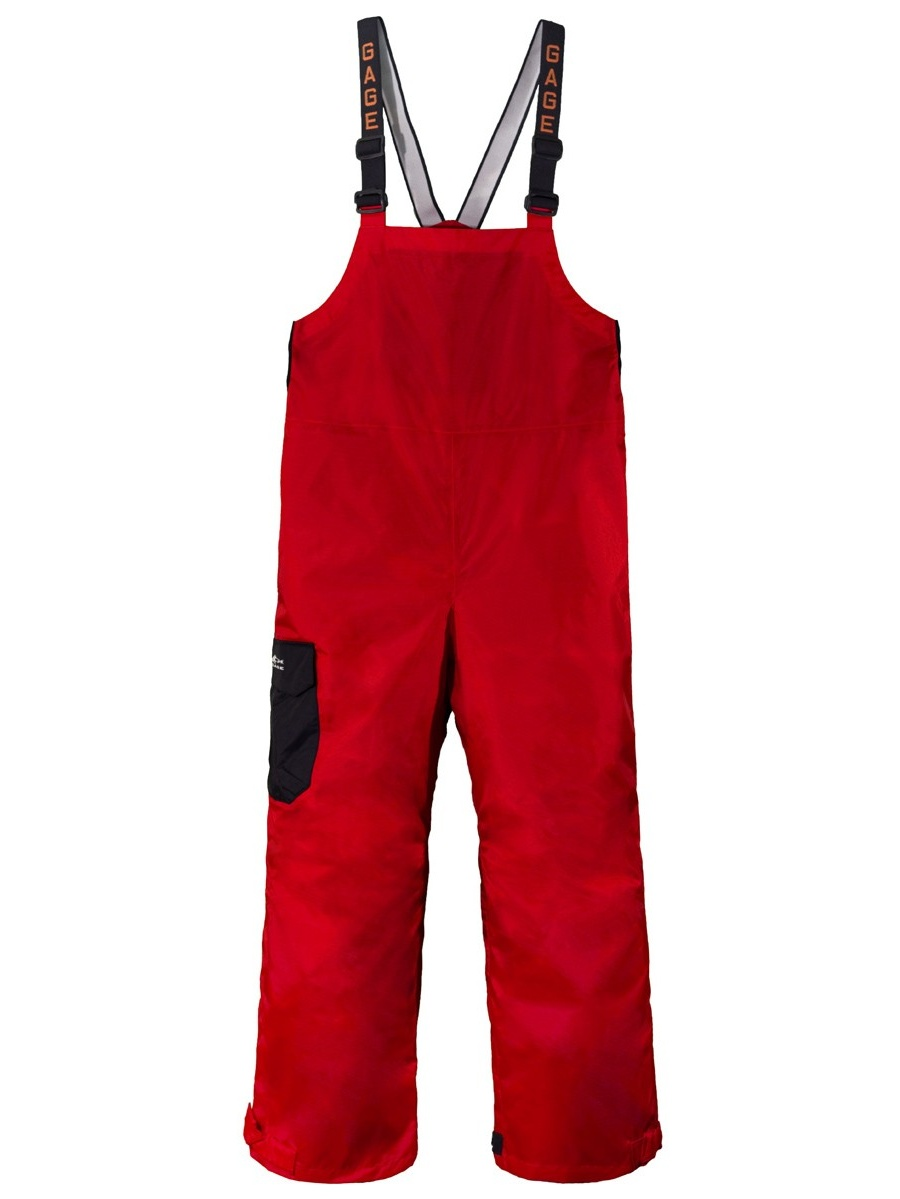 Grundens Weather Watch Bib Pants, Red, Extra Large by Grundens