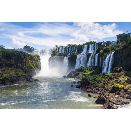 Foz De Iguazu, Largest Waterfalls, Iguazu National Park Print Wall Art By Michael Runkel