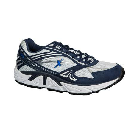 cheaper 69560 4d568 Xelero - Xelero Genesis XPS - Men's Stability - Motion Control Shoe -  White/Navy - Walmart.com