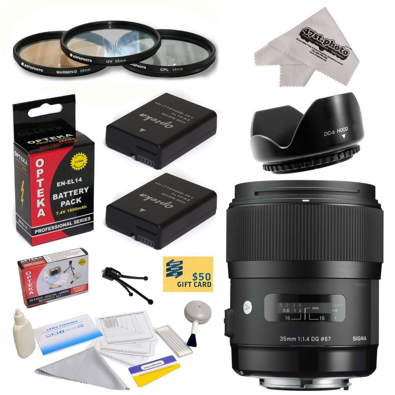 Sigma 340306 35mm F1.4 DG HSM Lens for Nikon D3100, D3200...