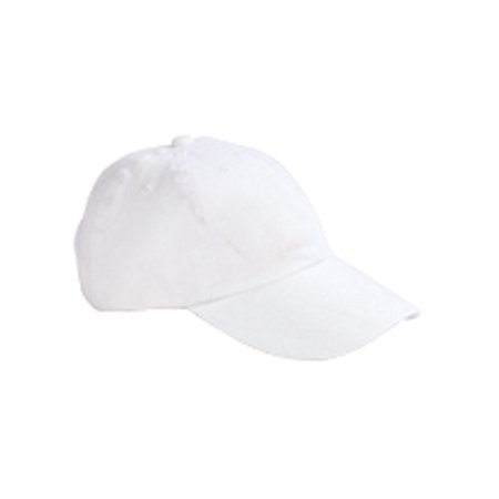 White Bald Cap (Big Accessories Ball Cap BX001Y Youth 6-Panel Twill)