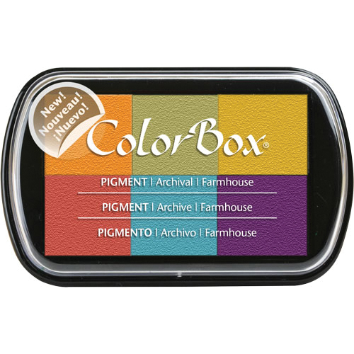 ColorBox Pigment Ink Pad 6 Colors-Farmhouse
