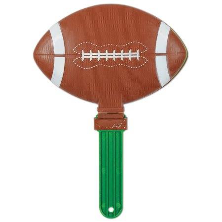 Beistle Giant Football Shape Party Clapper Noisemaker Party Favor - - Giant Football