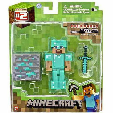 Minecraft Diamond Armor Steve Action Figure