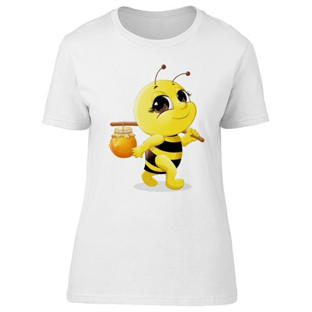 Adorable Bee Carrying Honey Tee Women's -Image by Shutterstock (Honey Clothes)