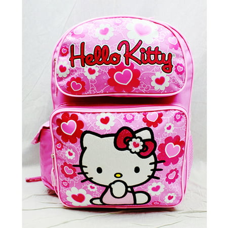 Backpack - Hello Kitty - Pink Flower Bow Large Girls School Bag New 84017 - Hello Kitty Backpack With Bow