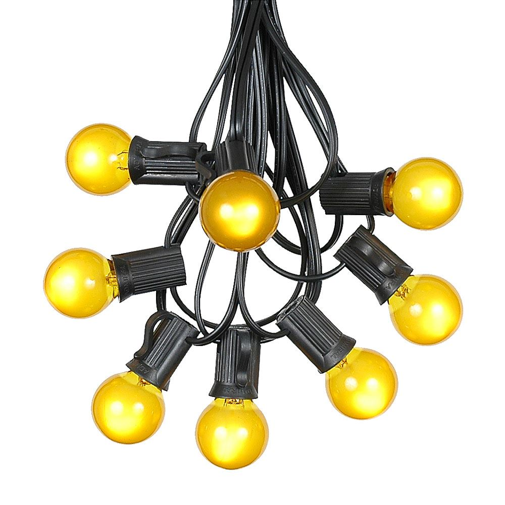 G30 Patio String Lights with 25 Clear Globe Bulbs – Outdoor String Lights – Market Bistro Café Hanging String Lights – Patio Garden Umbrella Globe Lights - Black Wire - 25 Feet