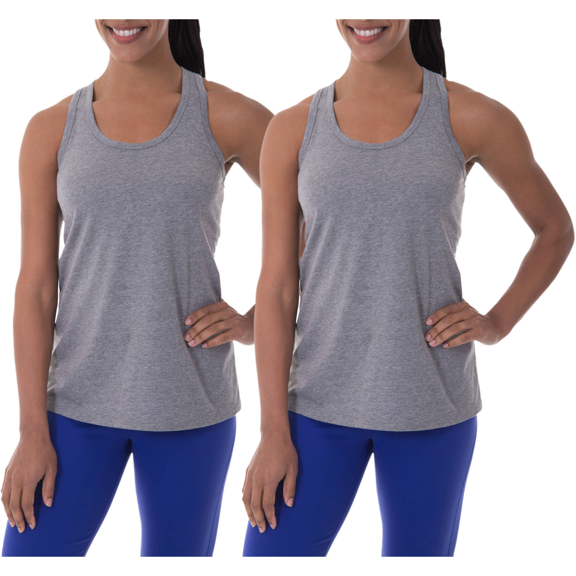 Danskin Now Women's Active Tank Top, 2 Pack Value Bundle