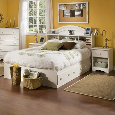 South shore summer breeze kids full wood bookcase bed 3 - South shore 4 piece bedroom furniture set ...