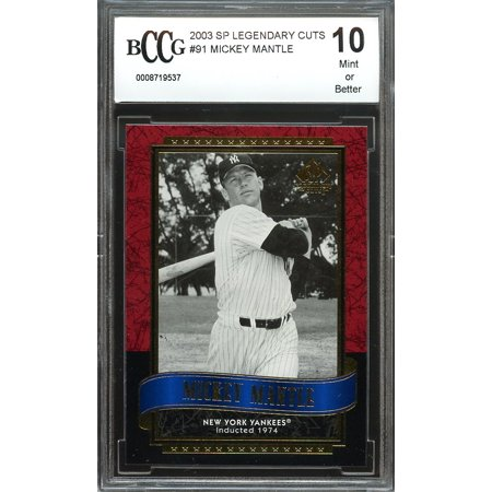2003 sp legendary cuts #91 MICKEY MANTLE new york yankees BGS BCCG 10