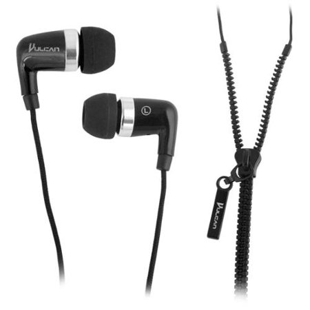 Vulcan Crossover Earbuds with Zipper Cord Design (Electronic Crossover Design)