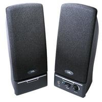 Cyber Acoustics 2.0 Black Stereo Speakers