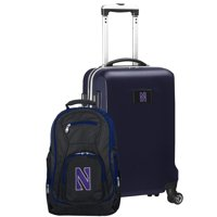 Northwestern Wildcats Deluxe 2-Piece Backpack and Carry-On Set - Navy - No Size