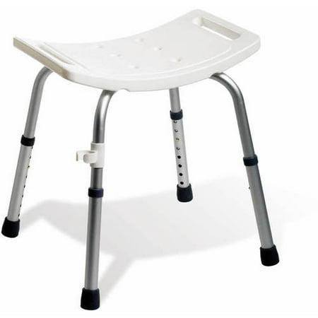 Medline Aluminum Easy Care Shower Bath Chair, White