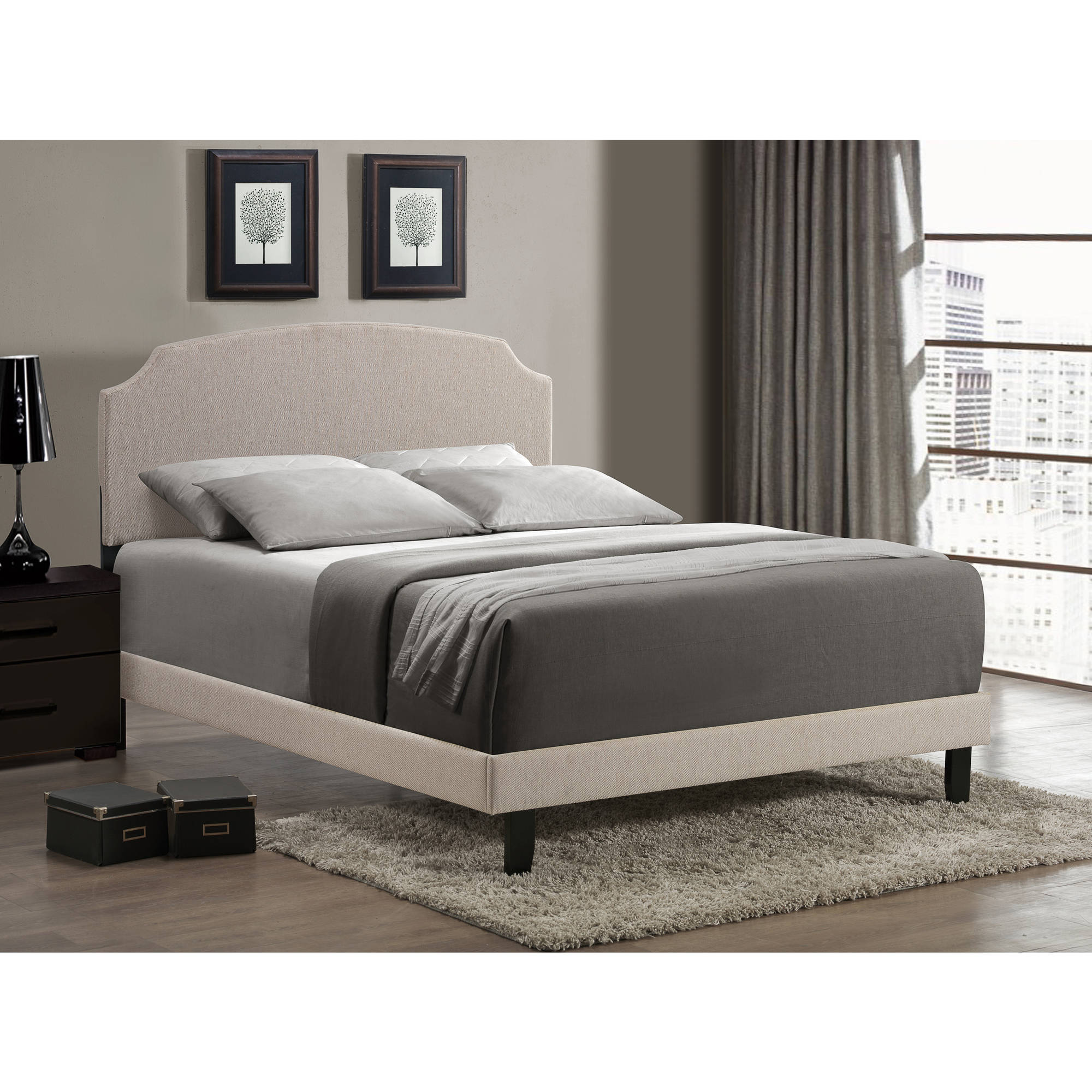 Hillsdale Furniture Lawler Bed, Cream, Multiple Sizes