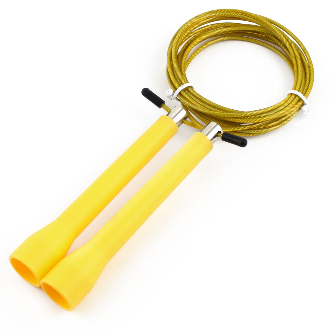 LeTEK Authorized Outdoor Workout Skipping Jump Rope Yellow