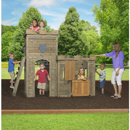 backyard discovery windsor castle wooden playhouse