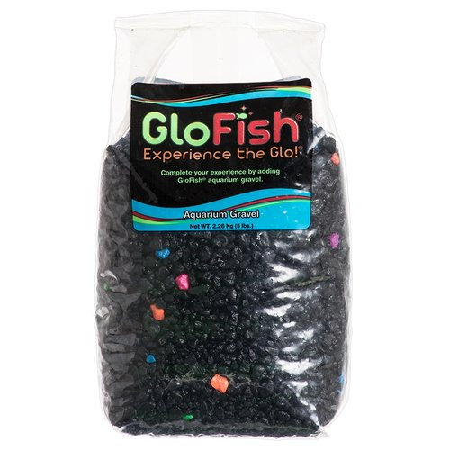 GloFish Aquarium Gravel - Black with Fluorescent Highlights 5 lb