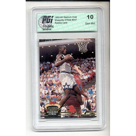 Shaquille Oneal Stadium Club Rookie Card Pgi 10 Shaq