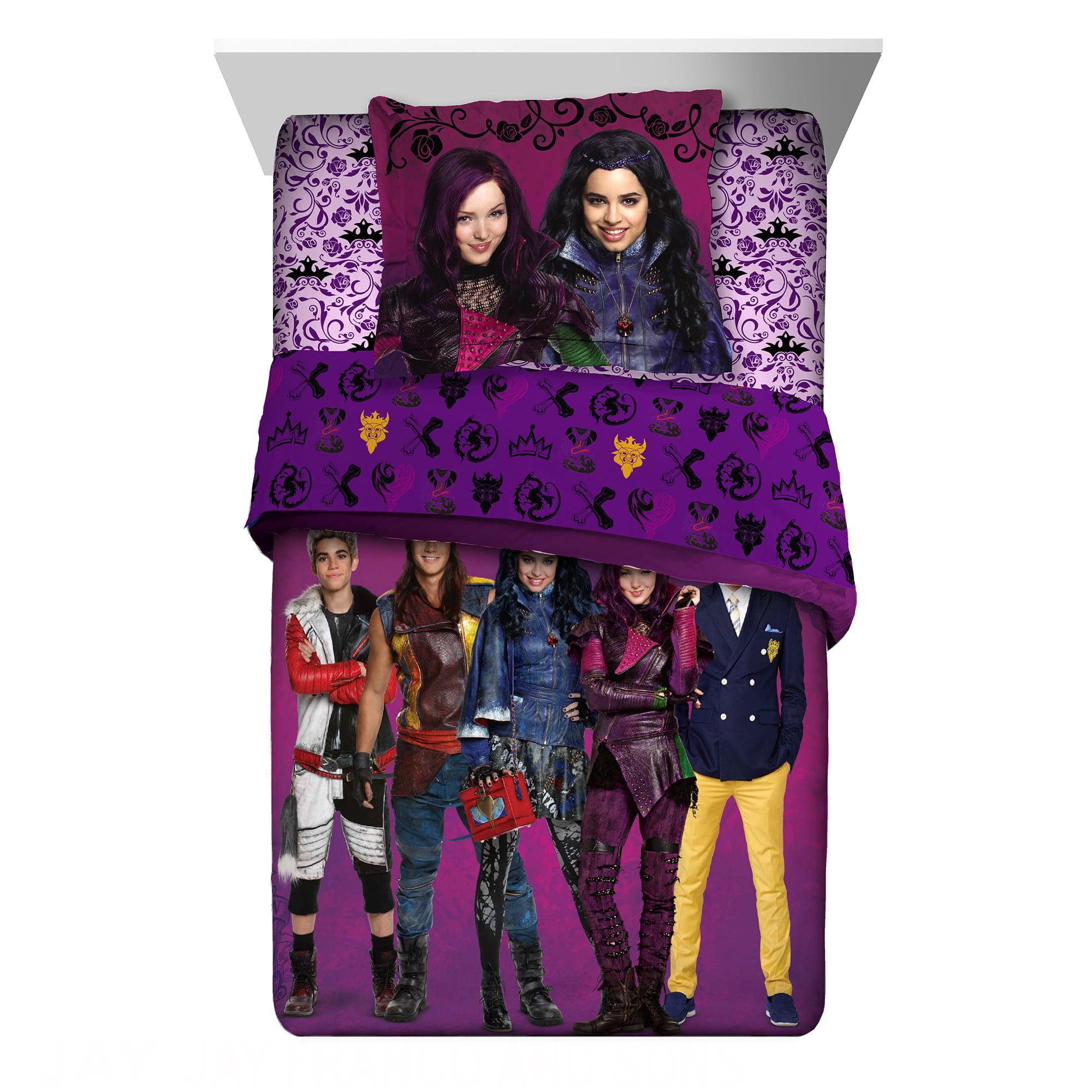 Disney Descendants Twin or Full Kids Bedding Comforter & Sham Set