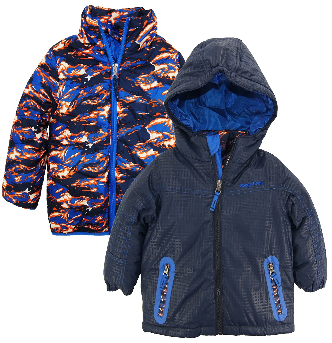 Rugged Bear Baby Boys Solid Patch Pocket Snowsuit