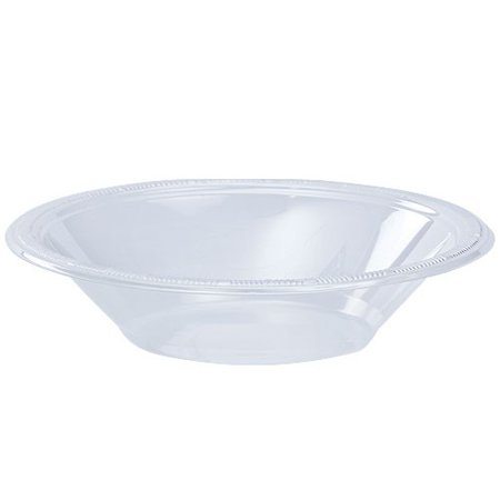 - Hanna K Clear Plasticware Plastic Bowl, Round, 12 Oz, Clear, 50 Ct