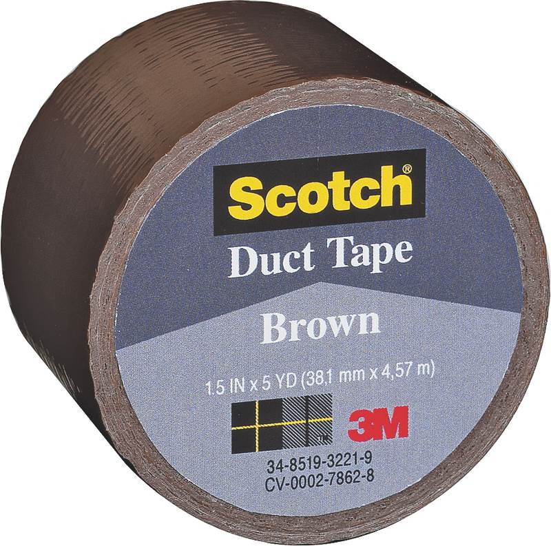 Bussman 1.5'' X 5 Yard Brown Scotch  Duct Tape 1005-BRN-1P  (Set of 6)