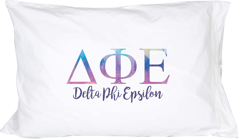 Delta Phi Epsilon Marble Diamond Pillowcase 300 Thread 100/% Cotton Count DPhie